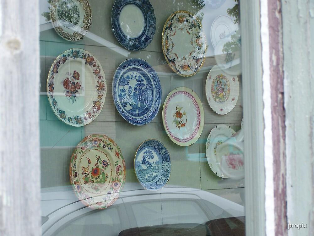 Vintage Plates  by propix
