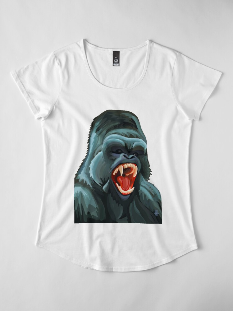 Alternate view of Silverback Premium Scoop T-Shirt