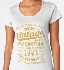 Vintage 1993 Birthday Gift Idea Women's Premium T-Shirt