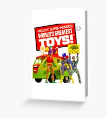 """MEGO - 8"""" SUPER HEROES - WORLD'S GREATEST TOYS Greeting Card"""