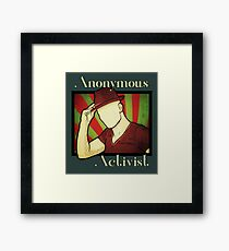 Anonymous Activist Framed Print