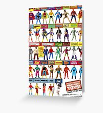 """MEGO - 8"""" SUPER HEROES - WORLD'S GREATEST TOYS - #2 Greeting Card"""