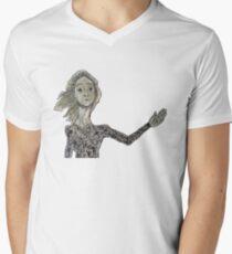 La Lloca Camiseta para hombre de cuello en v