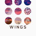 BTS - Flügel Logo Sonnenuntergang von bballcourt