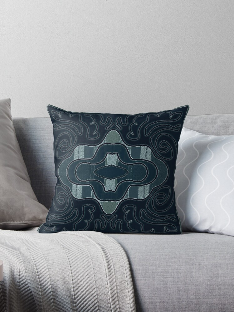 Blue black ART PATTERN, gifts and decor by ackelly4