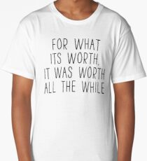 Greenday Lyrics - Time of your life - For what it's worth Long T-Shirt