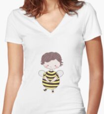 Sherlock Bee Women's Fitted V-Neck T-Shirt