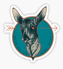 Where Are You Going, Deer? Sticker