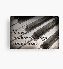 Music . . . Canvas Print