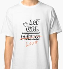 Boy plus girl equals friends. Classic T-Shirt