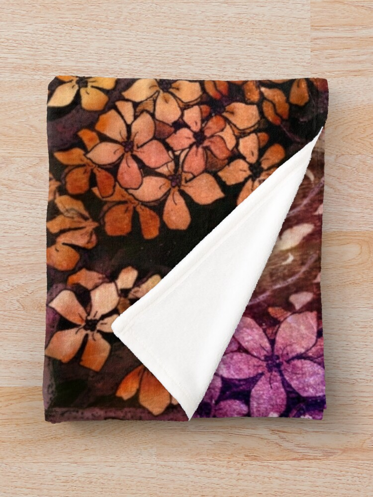 Alternate view of Orange Bird Throw Blanket