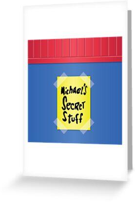 Space jam michaels secret stuff greeting cards by sam chaya space jam michaels secret stuff by sam chaya m4hsunfo