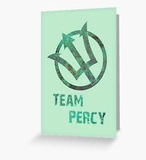 Team Percy Greeting Card