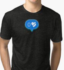 Black Mirror 0 Heart Broken Notification Tri-blend T-Shirt