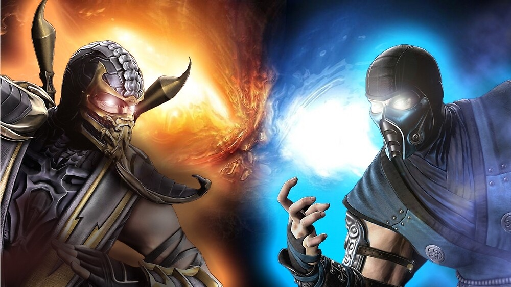 Subzero Vs. Scorpion  by rampagegraphics