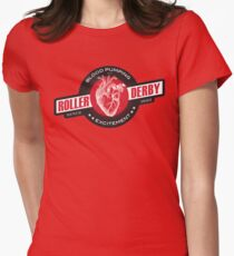 Blood Pumping Excitement [red] Womens Fitted T-Shirt