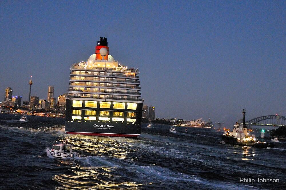 Wide Berth - Queen Victoria , Sydney Harbour, Sydney Harbour by Philip Johnson