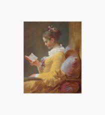 Lámina rígida Niña leyendo pintura de Jean-Honoré Fragonard