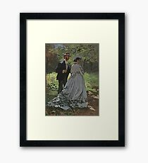 Bazille and Camille painting by Claude Monet Framed Print
