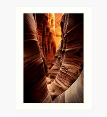 Zebra Slot Canyon Art Print
