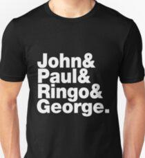 John & Paul & Ringo & George - The Beatles T-Shirt T-Shirt