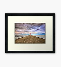 ann arbor michigan lighthouse Framed Print