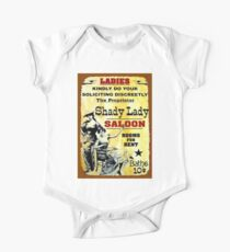 SHADY LADY SALOON:Vintage Advertising Sign Print One Piece - Short Sleeve