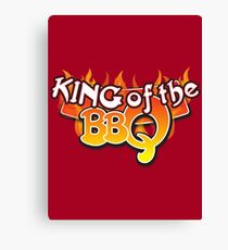 King of the BBQ Canvas Print