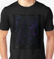 USGS TOPO Map Iowa IA Guss 174774 1980 24000 Inverted Unisex T-Shirt