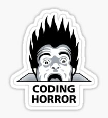 Coding H0rror Sticker