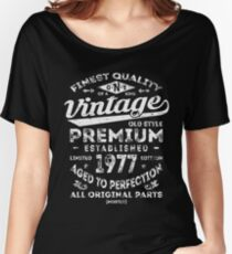 Vintage 1977 Birthday Gift Idea Women's Relaxed Fit T-Shirt