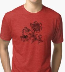 Flower Drawing Tri-blend T-Shirt