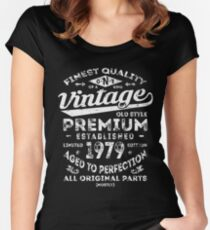 Vintage 1979 Birthday Gift Idea Women's Fitted Scoop T-Shirt