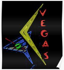 Las Vegas Martini Neon Sign Poster