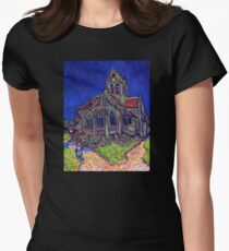 'Church of Auvers' by Vincent Van Gogh (Reproduction) T-Shirt