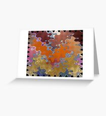 puzzling in red Greeting Card
