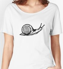 Snail Drawing Women's Relaxed Fit T-Shirt