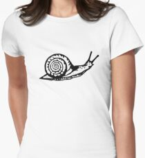 Snail Drawing Womens Fitted T-Shirt