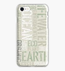 Ecology Typography iPhone Case/Skin