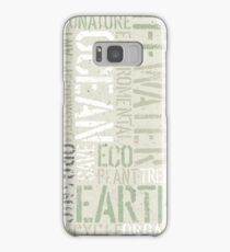 Ecology Typography Samsung Galaxy Case/Skin