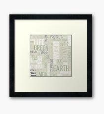 Ecology Typography Framed Print