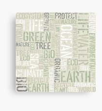 Ecology Typography Canvas Print