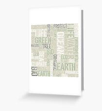 Ecology Typography Greeting Card
