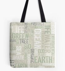 Ecology Typography Tote Bag