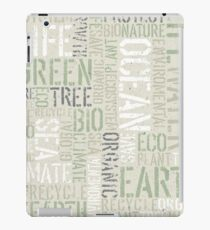 Ecology Typography iPad Case/Skin