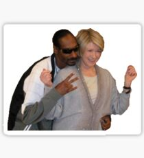 Martha and Snoop Sticker