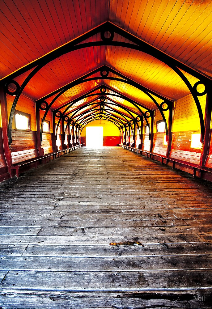 Queenscliff Pier Shelter by Neil
