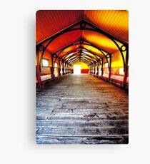 Queenscliff Pier Shelter Canvas Print