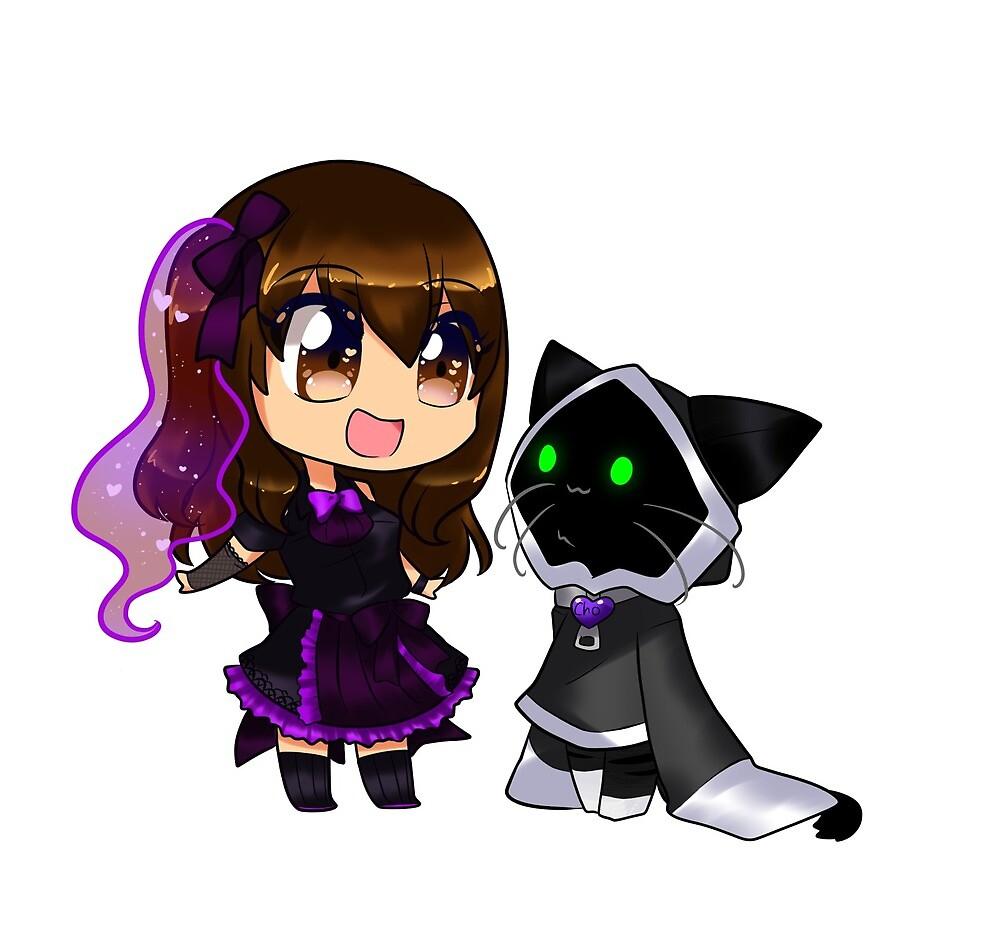 Madi & Cho (me and my cat) by Cattymadi