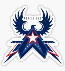 Rebellious Falcon Sticker